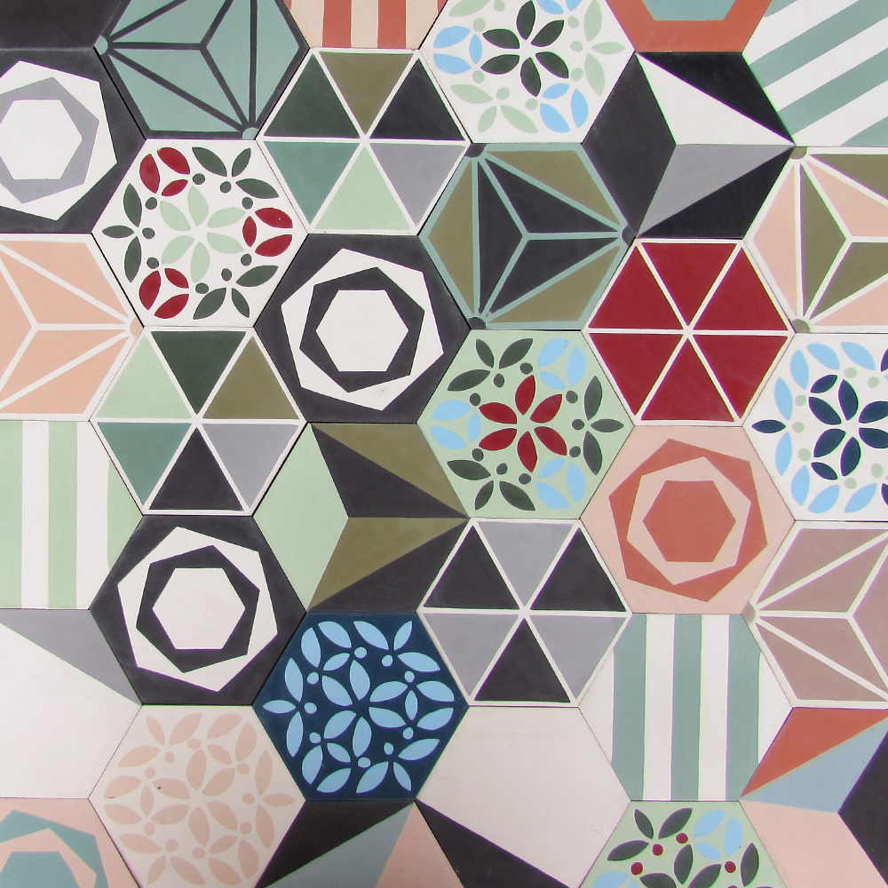 patchwork hexagonal