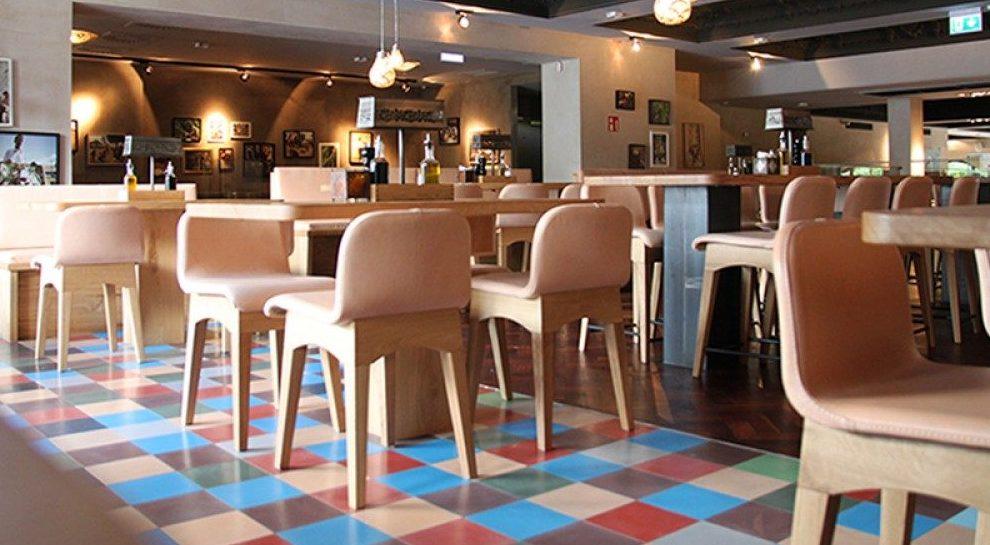 kafle cementowe w restauracji