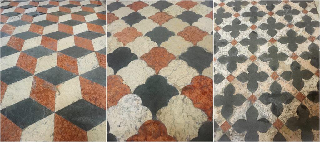 Podłogi w kościele w Weronie