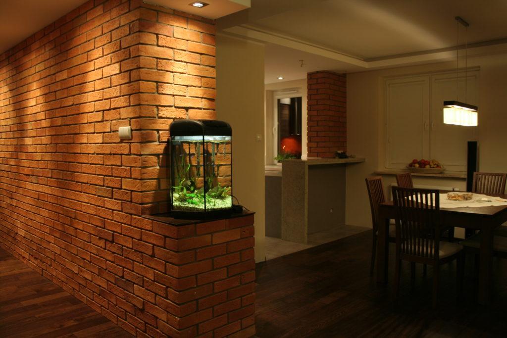 Płytki z cegły kuchnia