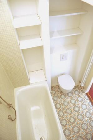 mała łazienka podłogi
