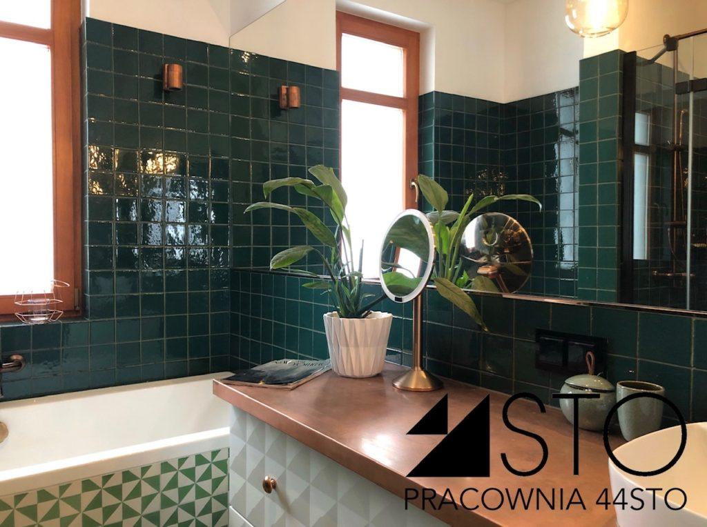 Zielone płytki do łazienki