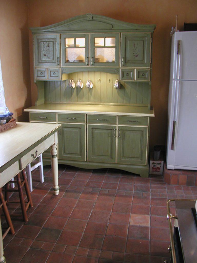 Rustykalna podłoga do kuchni