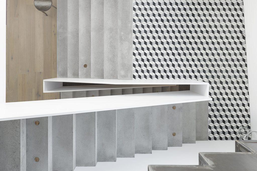 Płytki cementowe 360 schody